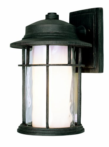 Trans Globe Lighting 5290 RT 11-1/2-Inch 1-Light Outdoor Small Down Wall Lantern, Rust