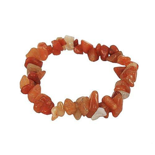 Stretch bracelet made of genuine carnelian gemstone