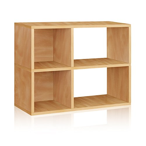 Way Basics Eco 2 Shelf Chelsea Bookcase and Cubby Storage, Natural (made from sustainable non-toxic zBoard paperboard) Basic 3 Shelf Bookcase