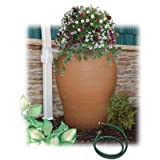 85 Gallon Terra Cotta Water Urn Decorative Urn Rain Barrel Kit with Integrated Planter