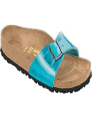 Birkenstock Sandals ''Madrid'' from Leather in Antik Scuba Blue with a regular insole by Birkenstock