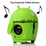 GOgroove Pal Bot - the Rechargeable Portable Android Speaker System for Smartphones Tablets MP3 Players Laptops and More Devices!