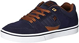 DC Mens Leather Sneakers B01H5QGBS6