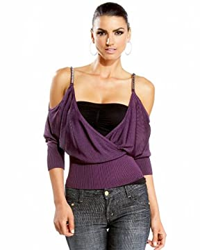 bebe.com : Studded Strap Open Shoulder Sweater :  studded strap open shoulder sweater com studded strap