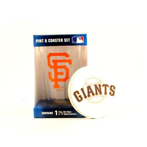 Mlb San Francisco Giants Pint Glass & Coaster Set front-519257