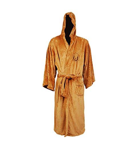 Star Wars Men Adult Jedi Fleece Hooded Bath Robe