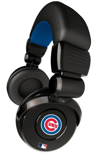 iHip Official MLB - CHICAGO CUBS - Noise Isolation Pro DJ Quality Headphone with Detachable Cord and Built-In Microphone with Volume Control MLH26CHC at Amazon.com