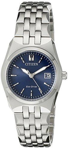 Citizen Eco-Drive Women's EW2290-54L Stainless Steel Bracelet Watch (Citizen Ecodrive Blue Dial compare prices)