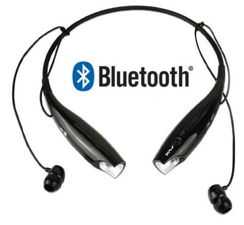 Bestfire® Hot Sale Brand New Universal Hbs-730 Wireless Bluetooth Stereo Stero Headset Neckband Style Earphone And Handfree Headphones For Cellphones, Such As Iphone, Nokia, Htc, Samsung, Lg, Moto, Pc, Ipad, Psp & Any Bluetooth Enabled Device (Black)