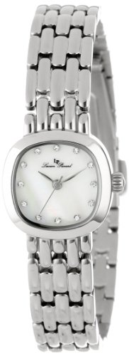 Lucien Piccard Women's 12012-02MOP Teide White Mother-Of-Pearl Dial Crystal Accented Stainless Steel Watch