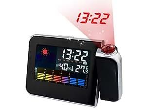 multifunktion projektionswecker projektionsuhr wecker wetterstation mit temperaturanzeige uhr. Black Bedroom Furniture Sets. Home Design Ideas