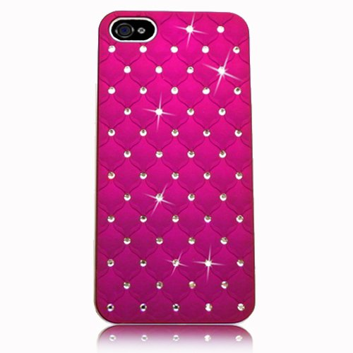 Xtra-Funky Exclusive Crystal Rhinestone Diamante Studded Case with Chrome edge effect For Apple iPhone 5C - HOT PINK (I Phone 5c Cases Gems compare prices)