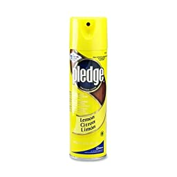 Pledge® Commercial Furniture Polish, Lemon Scent, 17 7/10 Ounce (DRA94430CT) Category: Wood Cleaners and Polishes