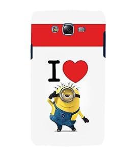 printtech Minions Love Back Case Cover for Samsung Galaxy J1::Samsung Galaxy J1 J100F