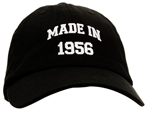 60th Birthday Gift Made 1956 Original Parts Hat Cap Black