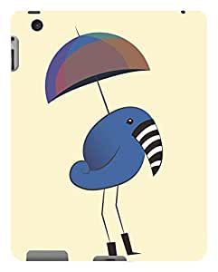 Koveru Back Cover Case for Apple iPd-2 - Zebra beak bird with umbrella