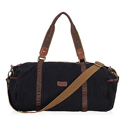 Veevan Leisure Canvas Leather Weekend Duffel Bag