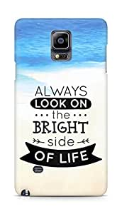Amez Always look on the Bright Side of Life Back Cover For Samsung Galaxy Note 4