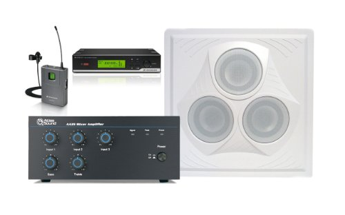 Wireless Conference Room Sound System 1 Vector Ceiling Speaker, Mixer Amplifier, Lavalier Microphone
