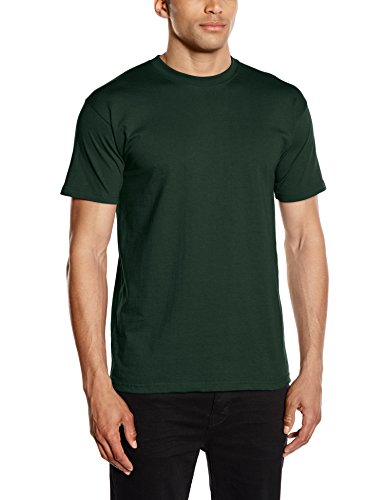 fruit-of-the-loom-heavy-cotton-tee-shirt-t-shirt-uomo-verde-bottle-green-large-taglia-produttore-lar