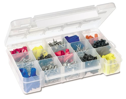 Akro-Mils 5705 Plastic Parts Storage Case for Hardware and Craft, Small, Clear (Plastic Storage Containers Akro compare prices)