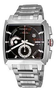 TAG Heuer Men's CAL2110.BA0781 Monaco Black Dial Watch