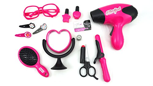 Deluxe Beauty Salon Toy Make Up Play Set For Children Features Real Like Blow Dryer Battery Operated And More (Play Blow Dryer compare prices)