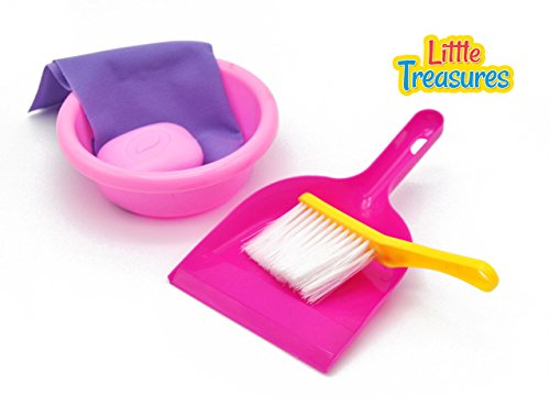 Little-Treasures-Little-Helper-5-Piece-Kids-Pretend-Play-Cleaning-Playset-with-Hand-Broom-for-Ages-3-and-up
