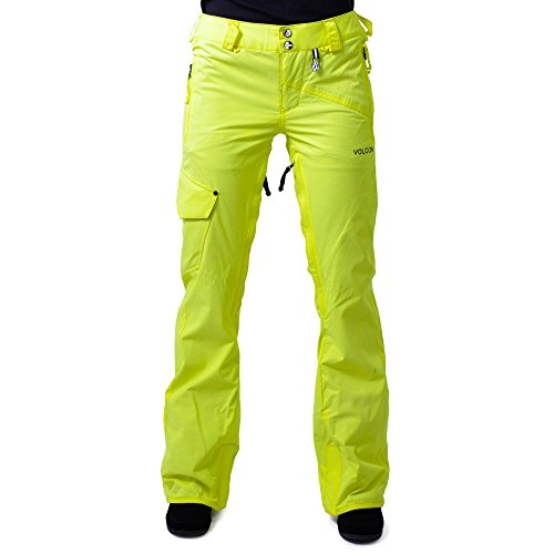 K91L7Y Volcom Elko Snowboard Pants Yellow Flash Womens Sz L