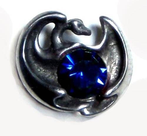 Protector Dragon Pin Sm with Blue Swarovski Crystal