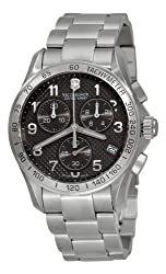 Victorinox Swiss Army Men's 241405 Chrono Classic PVD Coated Grey Dial Watch from Victorinox Swiss Army