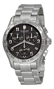Victorinox Swiss Army Men's 241405 Chrono Classic PVD Coated Grey Dial Watch by Victorinox Swiss Army