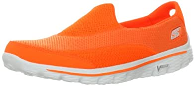 SKECHERS Ladies GOwalk 2 Shoes, Orange, UK2.5