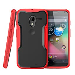 Moto X Phone Case, SUPCASE Unicorn Beetle Series Premium Hybrid Protective Bumper Case for Motorola Moto X Phone, Black/Red [Free HD Clear Screen Protector, Bubble Free Installation Instruction Included]