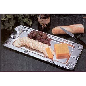 Golf Embellished Polished Metal Rectangular Platter