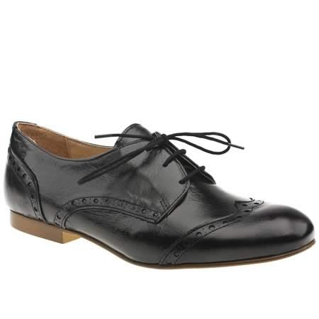 Schuh Mel Lace Brogue - 7 Uk - Black - Leather