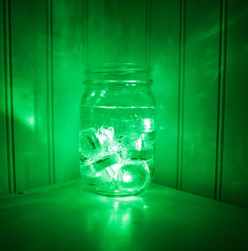 Generic Waterproof Led Submersible Tea Light Leds For Wedding / Birthday Party - Green