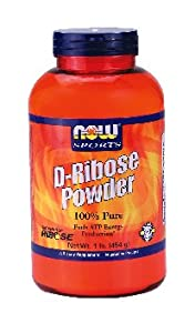 NOW Foods - D-Ribose 100% Pure Powder - 1 lb. ( Multi-Pack)