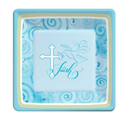 Faithful Dove Blue Dessert Plates - 1