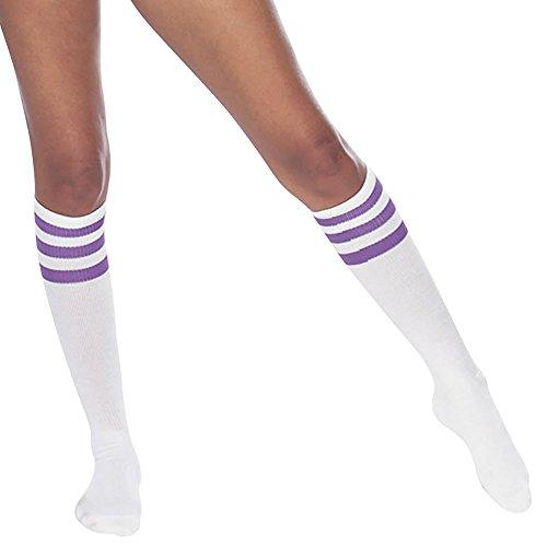 american-apparel-unisex-stripe-kniehohen-socken-white-purple-911