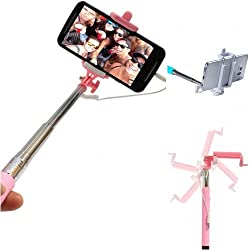 PGS Selfie Stick via Aux Cable for Apple Iphone & Android Mobile.