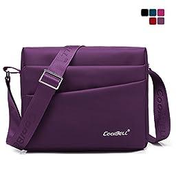 CoolBell(TM)10.1 inches Unisex Laptop Shoulder Bag Waterproof Oxford Bag Messenger Bag Leisure Bag Briefcase For iPad/HP/Dell/Lenovo/Acer/Men/Women/Teens/college,Purple