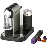 Nespresso CitiZ and Milk by Krups XN730T40 Coffee Machine - Titanium