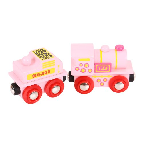 Bigjigs Rail BJT412 Pink 123 Engine