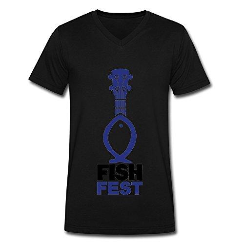 fishfest-logo-2016-fashion-v-neck-t-shirt-for-men-black