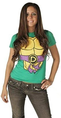 Teenage Mutant Ninja Turtles Women's T-shirt with Eye Mask
