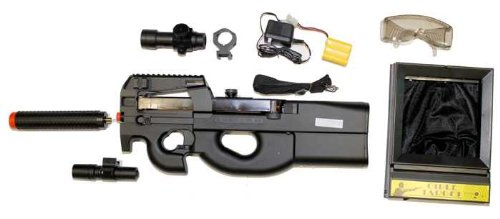 P-90 Laser Red Dot Airsoft Electric Gun