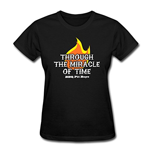Spreadshirt Women'S Through The Miricale Of Time... T-Shirt, Black, S