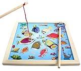 家族みんなで 遊ぼう 木製 さかなつりゲーム 11匹の おさかなさん