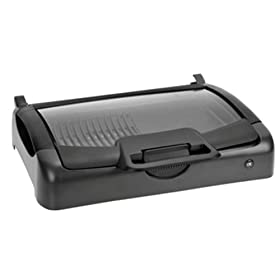 Kalorik GR28215 Indoor/Outdoor Nonstick Carry Grill/Griddle with Glass Lid